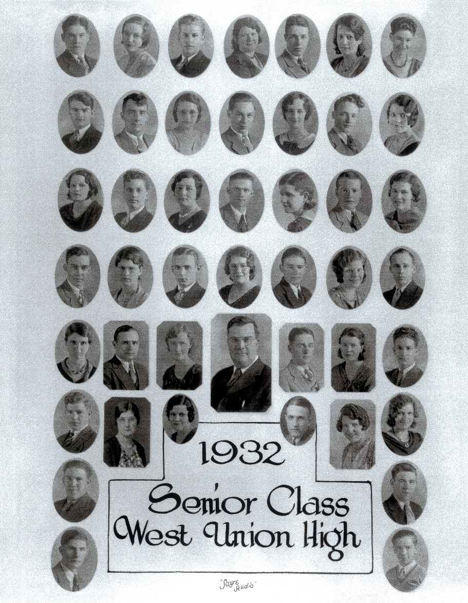 1932 West Union High School Senior Photo